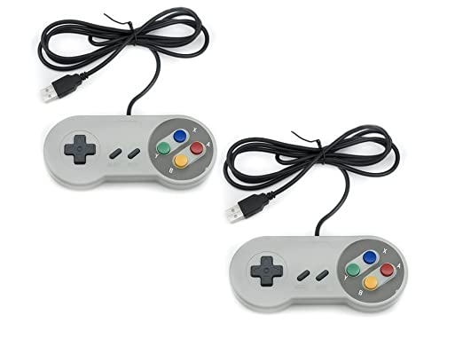 9 opinioni per QUMOX 2 x Nintendo Gioco PC GamePad Controllore SFC per PC Windows USB Super