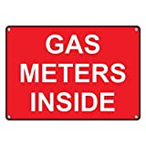 Weatherproof Plastic Gas Meters Inside Sign with English Text