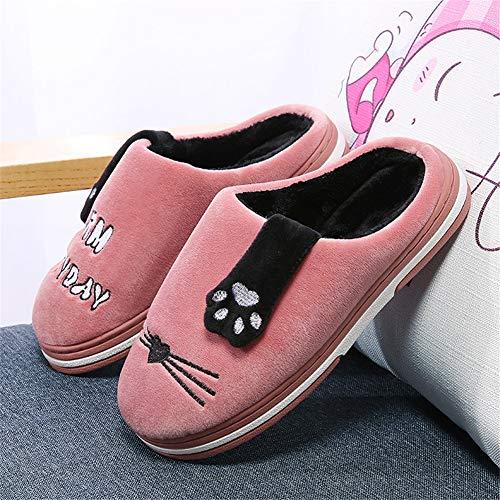 Hiver Maison Chaussons Rose Coton Femme D'intérieur Chaussures 35 Pantoufles 44 Soft Bottom Pour Torisky Homme xBSnw