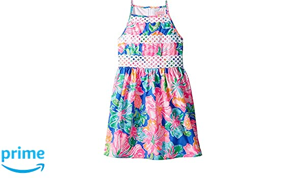 d315796a3404c4 Amazon.com: Lilly Pulitzer Kids Baby Girl's Elize Dress (Toddler/Little Kids/Big  Kids) Beckon Blue Jungle Utopia Small 8: Clothing
