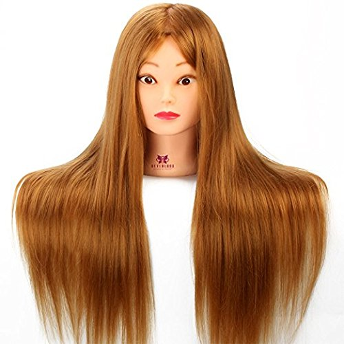 3-5 Days Delivery Neverland Beauty 26 Inch 30% Real Hair Hairdressing Cosmetology Training Head Mannequin Head Hairdresser Training Head w/Clamp For College and Professional Use #27 by Neverland Beauty & Health (Image #3)