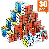 NEOACT Mini Cube, Puzzle Party Toy, Eco-Friendly Material with Vivid Colors, Party Favor School Supplies Puzzle Game Set for Boy Girl Kid Child, Magic Cube Goody Bag Filler Birthday Gift, Pack of 30