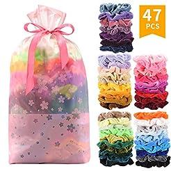 SEVEN STYLE 47 Pcs Premium Velvet Hair S...