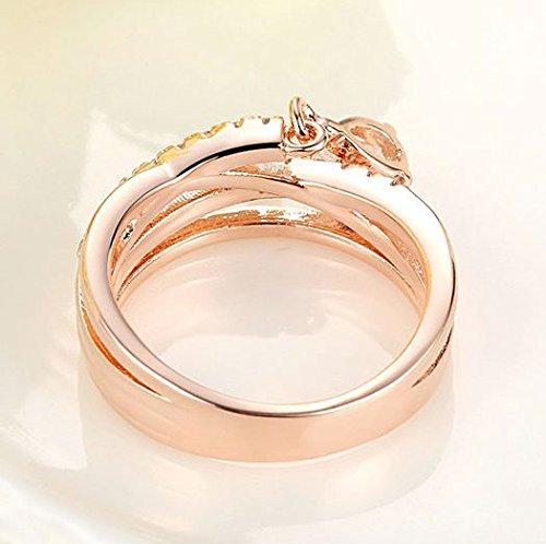 Amazon.com: Dixey Luxury Anillos Joyeria Sortijas 18k de Compromiso Aniversario Matrimonio Boda Oro Plata Anel De Ouro Prata 925 Joyeria Fina Para Mujer ...