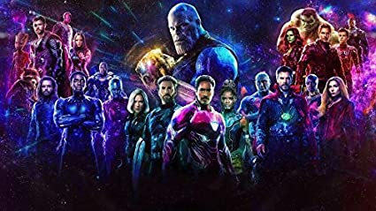 0-HOE33B Avengers Infinity War 62cm x 35cm,25inch x 14inch Silk Print Poster