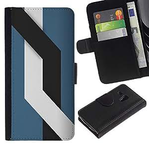 NEECELL GIFT forCITY // Billetera de cuero Caso Cubierta de protección Carcasa / Leather Wallet Case for Samsung Galaxy S3 MINI 8190 // Líneas