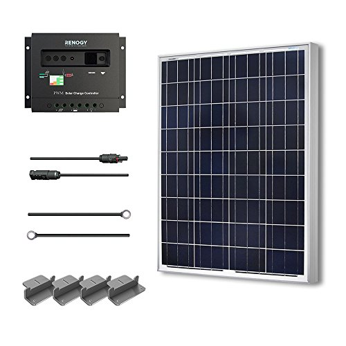 Cheap Renogy 100 Watts 12 Volts Polycrystalline Solar Starter Kit w/ 100w solar panel,30A Charge Controller, 8ft 10AWG Tray Cables,Solar Adaptor Kit
