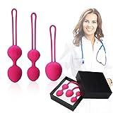 Premium Ben Wa Balls Kegel Exercise Weight Kit for Women - Fovel Pelvic Floor Exercises for Improved Bladder Control(Rose)