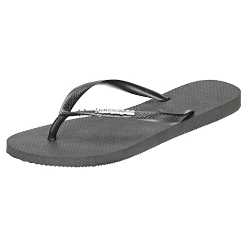 d8293728407b Havaianas Flip Flops Women Slim Metal Logo And Crystal  Amazon.co.uk ...