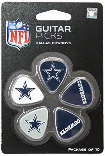 Woodrow Guitar by The Sports Vault NFL Dallas Cowboys Guitar Picks, 10 Pack