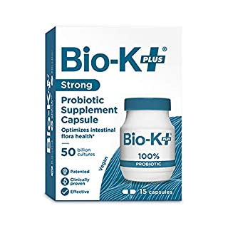 Bio-K+ Probiotic Supplement Capsule for Women & Men, 50 Billion Bacteria at Expiry Date, Enteric Coated, Vegan & Gluten Free, Shipped Cold to Preserve Probiotics, 15 Capsules (B005HJMGCE) | Amazon price tracker / tracking, Amazon price history charts, Amazon price watches, Amazon price drop alerts