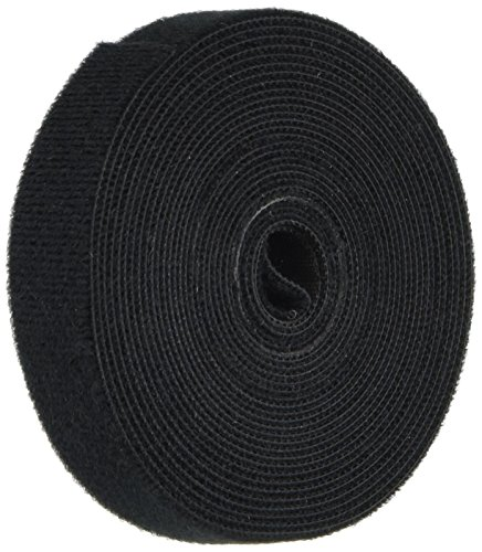 Monoprice 121887 3 Pack Hook & Loop Fastening Tape 5 Yd/Roll, 0.75'', Black - (121887)Black by Monoprice