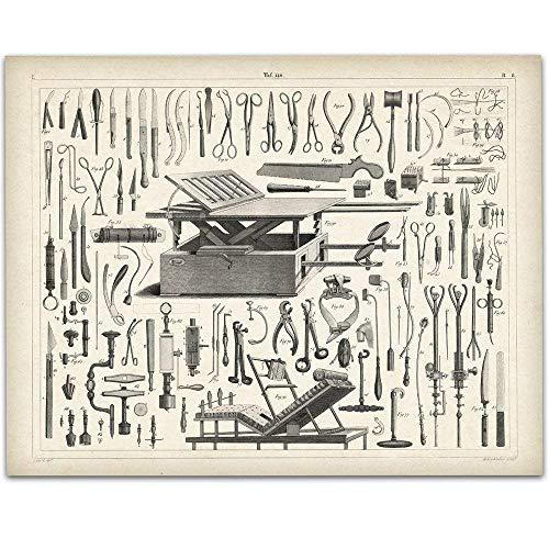 Vintage Medical Instruments - 11x14 Unframed Art Print - Great Gift Under $15 for Medical and Nursing Students