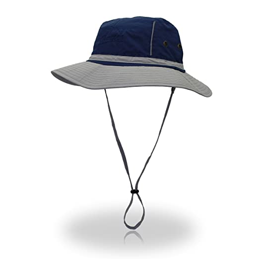 Jeelow Outdoor Sun Hats with Wind Lanyard Bucket Hat Fishing Cap Boonie for  Men Women 9d2db3753d85