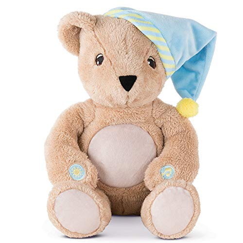 Vermont Teddy Bear - Sleep Buddy, Musical Teddy Bear Night Light, Baby Gift, 15 Inches
