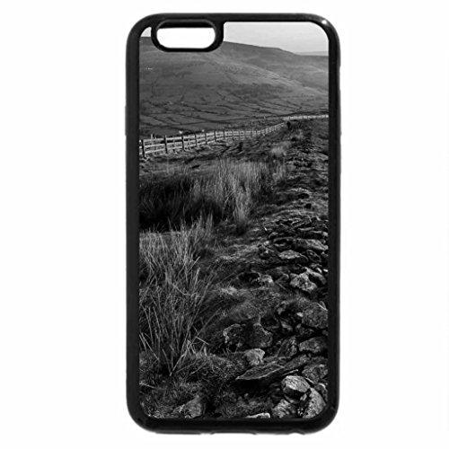 iPhone 6S Plus Case, iPhone 6 Plus Case (Black & White) - sunrise on a wonderful valley