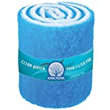 Aquarium Filter Pad Media Roll - Blue Bonded - 12 Inches by 144 Inches (12 ft) by 0.75 Inches - Cut to Fit - Durable - Fish and Reef Aquarium Compatible - Clean Water by Koral Filters