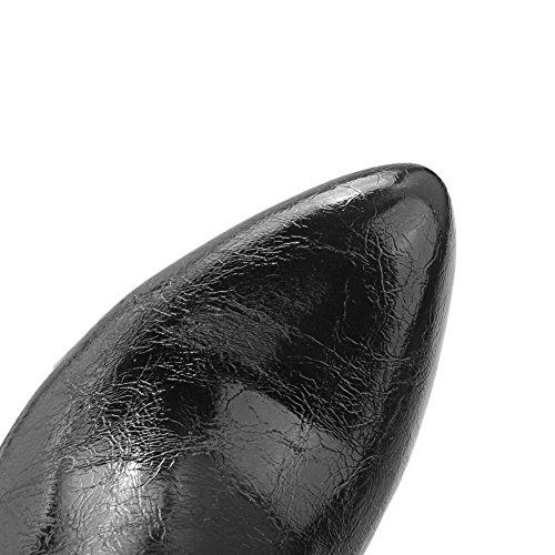 AdeeSu Womens Slip-Resistant Spikes Stilettos Dress Rhinestones Microfiber Boots SXC01827 Black bCCQipfQV