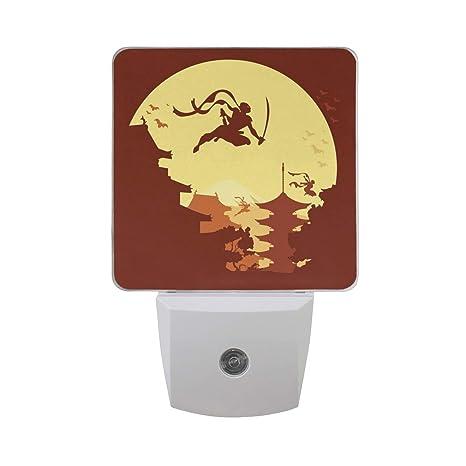 Ninja Warrior 3 LED Night Light Lamp with Dusk to Dawn ...