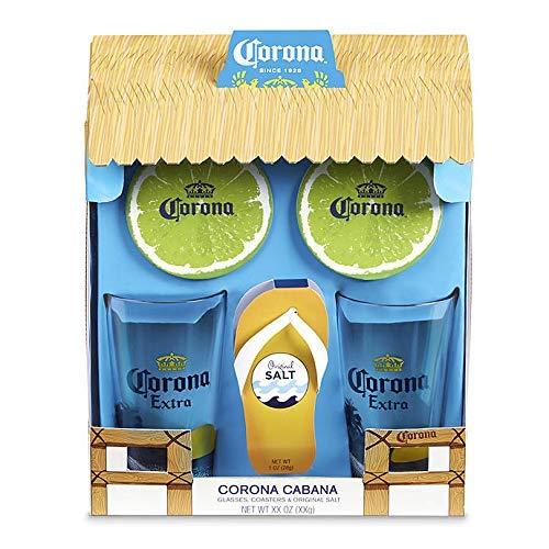 Corona Pint Glass and Coaster Cabana Gift ()