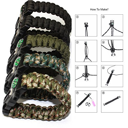 Poonning Survival Tool,for Hiking Camping Emergency,All in 1 Kit