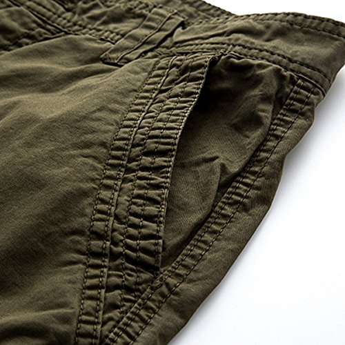 LOCALMODE Men's Casual Cotton Multi Pocket Twill Cargo Shorts Blue 36 by LOCALMODE (Image #6)