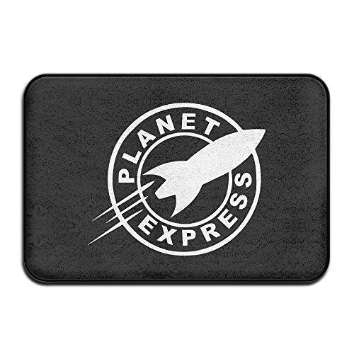 AOOIUU Futurama Planet Express Non Slip Doormats Entrance Mat Floor Mat Door Mat Rug Indoor/Outdoor/Front Door/Bathroom Mats for $<!--$5.06-->