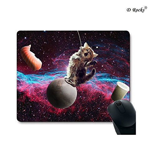 9 Inch x 7.5 Inch Mouse Pad The Story Between Cat And Space (Baby Cat)