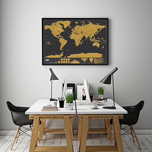 World Scratch Off SonQueen– Large Scrape-Off Earth Wall Poster for Adventurous Travelers – Perfect Traveller's…