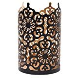 Hosley Flower 7' High Cut Bronze LED/Votive / Tealight Holder/Lantern. Ideal Gift for Wedding, Party, Use with Jar Candles, Tea Lights, Votive Candle Gardens, Aromatherapy, Spa P9