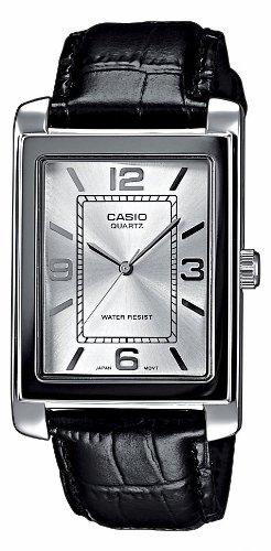 Casio Herren-Armbanduhr Classic Analog Quarz Leder MTP-1234PL-7AEF