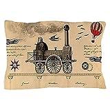 CafePress - Railway Steampunk - Standard Size Pillow Case, 20''x30'' Pillow Cover, Unique Pillow Slip