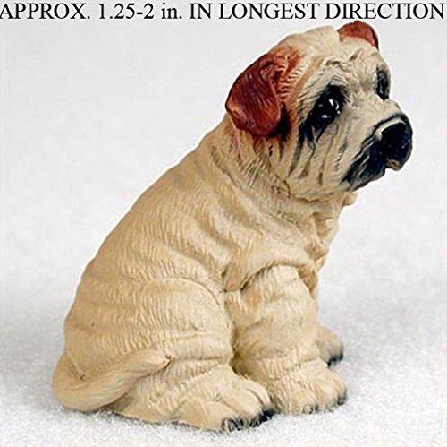(Ky & Co YesKela Shar Pei Mini Resin Dog Figurine Statue Hand Painted Cream)