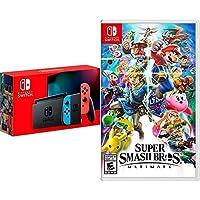 Consola Nintendo Switch Neon 1.1 + Super Smash Bros