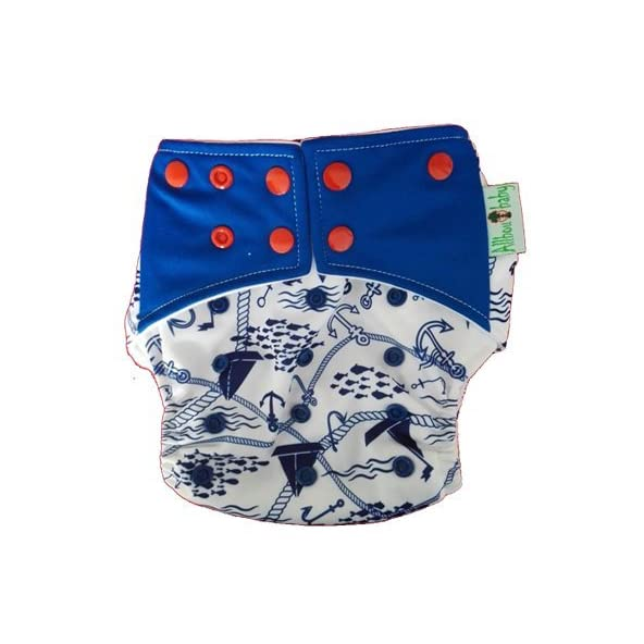Allboutbaby Reusable pocket Cloth Diaper with stay dry insert- Sailing
