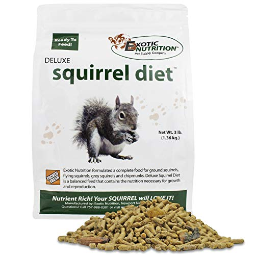 (Exotic Nutrition Deluxe Squirrel Diet - High Protein Pellets for Squirrels in Rehabilitation (3 lb.))