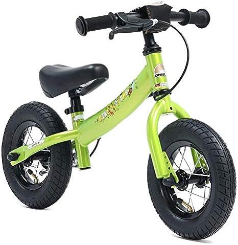 Bikestar Bicicleta de Equilibrio para niños de 2 años con neumáticos de Aire y Frenos | 10 Pulgadas Sport Edition | Verde Brillante