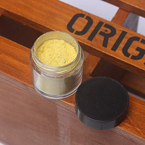 Glitter Powder Holographic Dipping Powder Natural Long Lasting Acrylic Powder (Model - Matte Yellow)