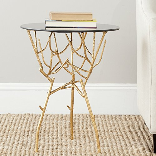 Safavieh Home Collection Tara Gold Accent Table (Iron Glass Side Table)