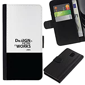 All Phone Most Case / Oferta Especial Cáscara Funda de cuero Monedero Cubierta de proteccion Caso / Wallet Case for Samsung Galaxy Note 3 III // DESIGN WORK - JOBS QUOTE