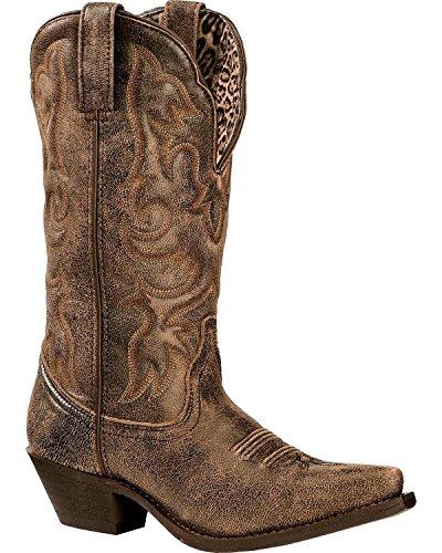 Laredo Women's Access Western Boot, Black/Tan, 6 M US