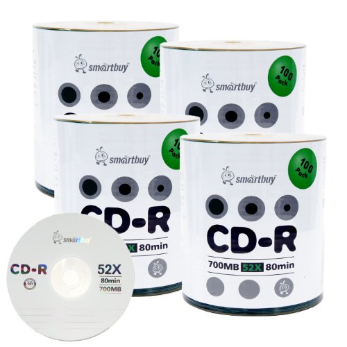 Smartbuy 700mb/80min 52x CD-R Logo Top Blank Data Recordable Media Disc