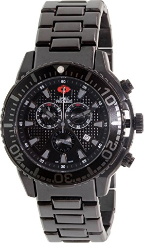 Swiss Precimax Men's SP13104 Pulse Pro Analog Display Swiss Quartz Black Watch