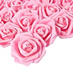 Juvale-Rose-Flower-Heads-100-Pack-Artificial-Roses-Perfect-Wedding-Decorations-Baby-Showers-Crafts-Pink-3-x-125-x-3-inches