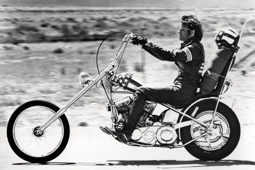 Peter Fonda Easy Rider Riding His Harley Davidson Motorcycle 24x36 Poster by Silverscreen