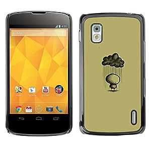 MOBMART Carcasa Funda Case Cover Armor Shell PARA LG Nexus 4 E960 - Drenched By The Rain