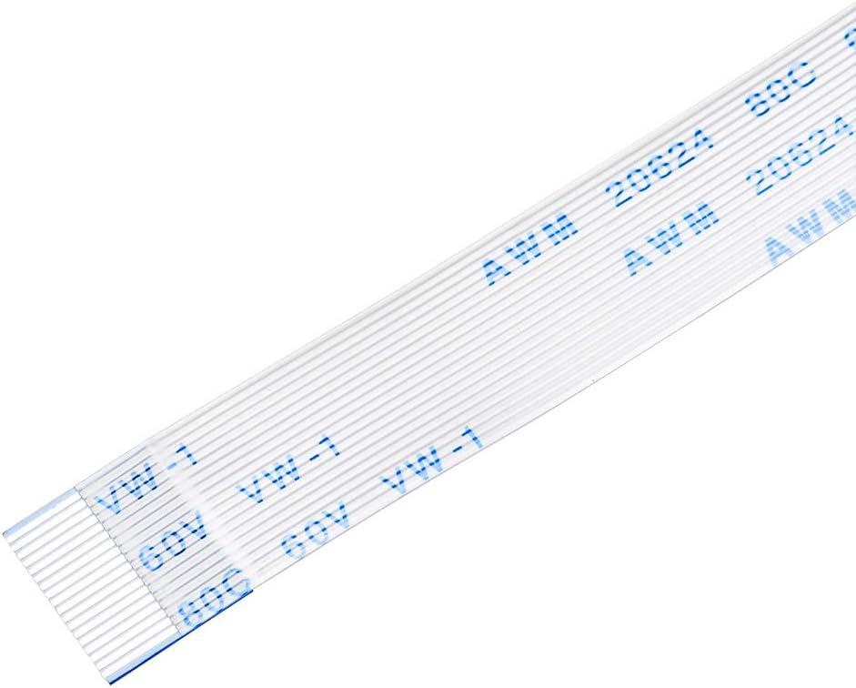 sourcing map Cable Plano Flexible Tipo A 18 Pines 0,5 mm de Paso 150mm Cable de Cinta FPC FFC 10uds