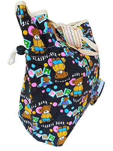 Teddy schwarz Damentasche Schultertasche Handtasche Reissverschluss 48 cm x 39 cm x 19 cm