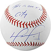 fan products of David Ortiz Boston Red Sox Autographed Baseball with This Is Our F'N City Inscription - Fanatics Authentic Certified