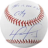 David Ortiz Boston Red Sox Autographed Baseball with This Is Our F'N City Inscription - Fanatics Authentic Certified